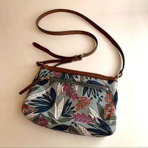 Fossil Fiona Floral Fabric Small Crossbody